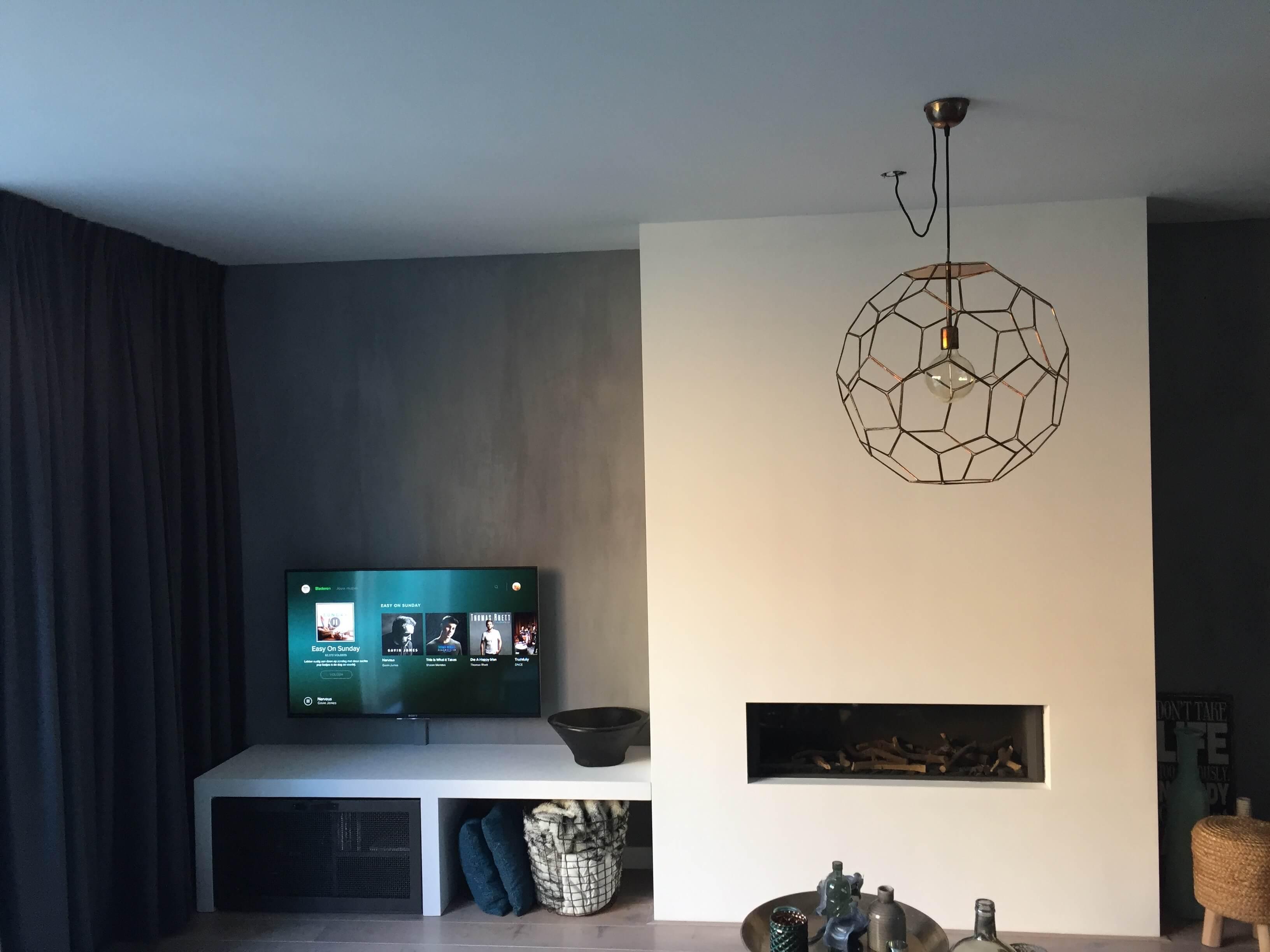Geïntegreerd haardmeubel / TV-dressoir