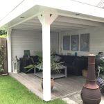 Houten terrasoverkapping overkapping, veranda, prieel, tuinkamer